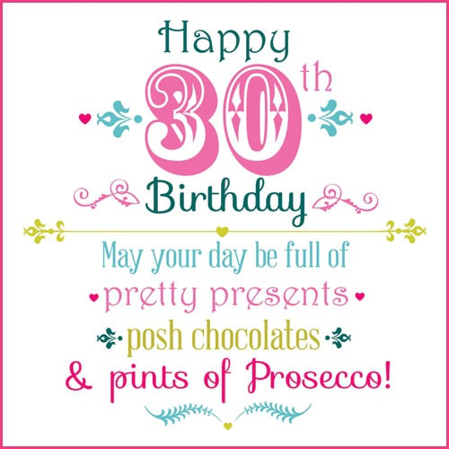 AMSBE 30 Birthday Cards 30th Birthday Card Ideas – 30th Birthday Card Messages