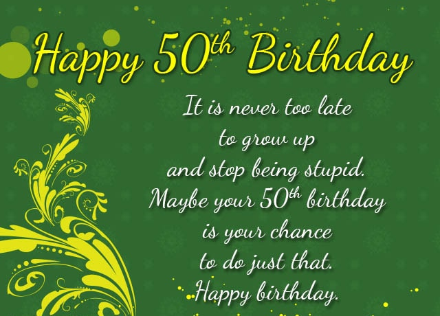 50th Birthday Card Messages D