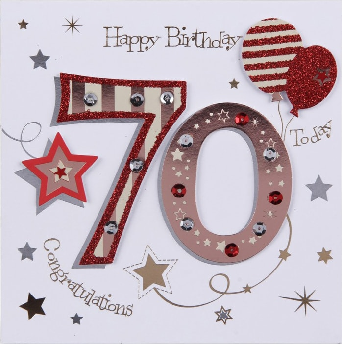 70th Birthday Card A