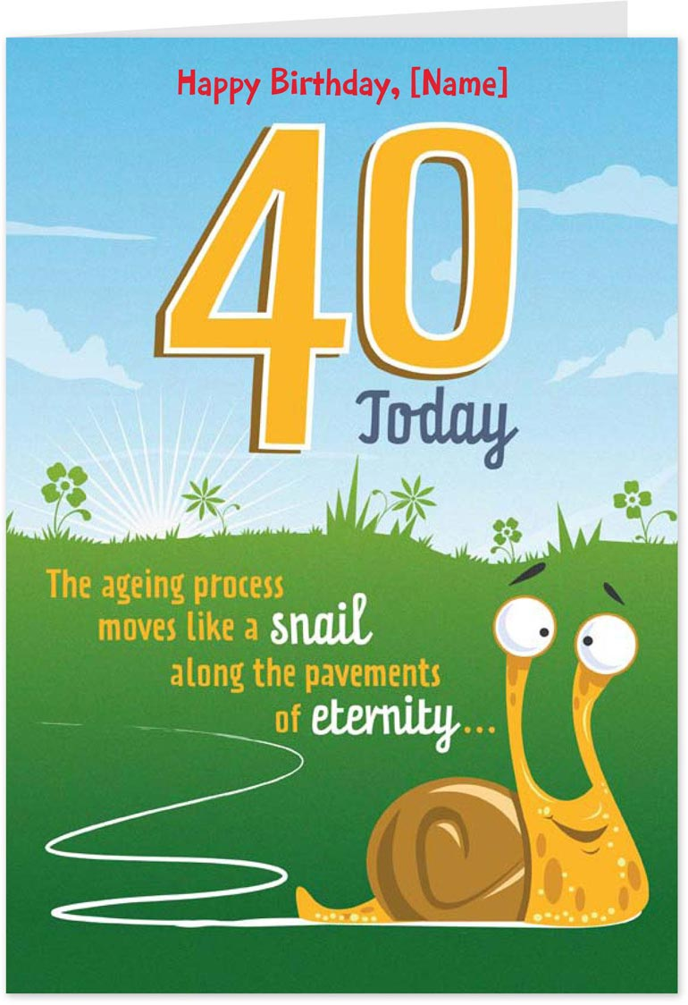 AMSBE Free Funny Personalised 40th Birthday Cards eCards – Happy 40th Birthday Greetings