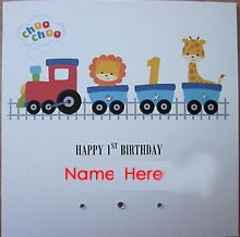 Personalised 1st Birthday H