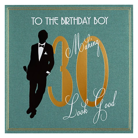 Husband 30th Birthday Card A