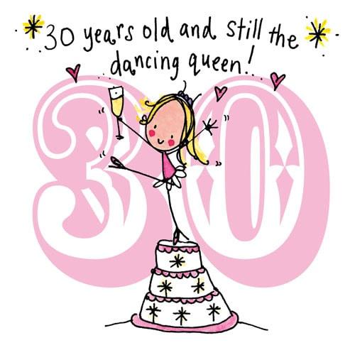 Смешное поздравления с 30 летием девушке прикольные