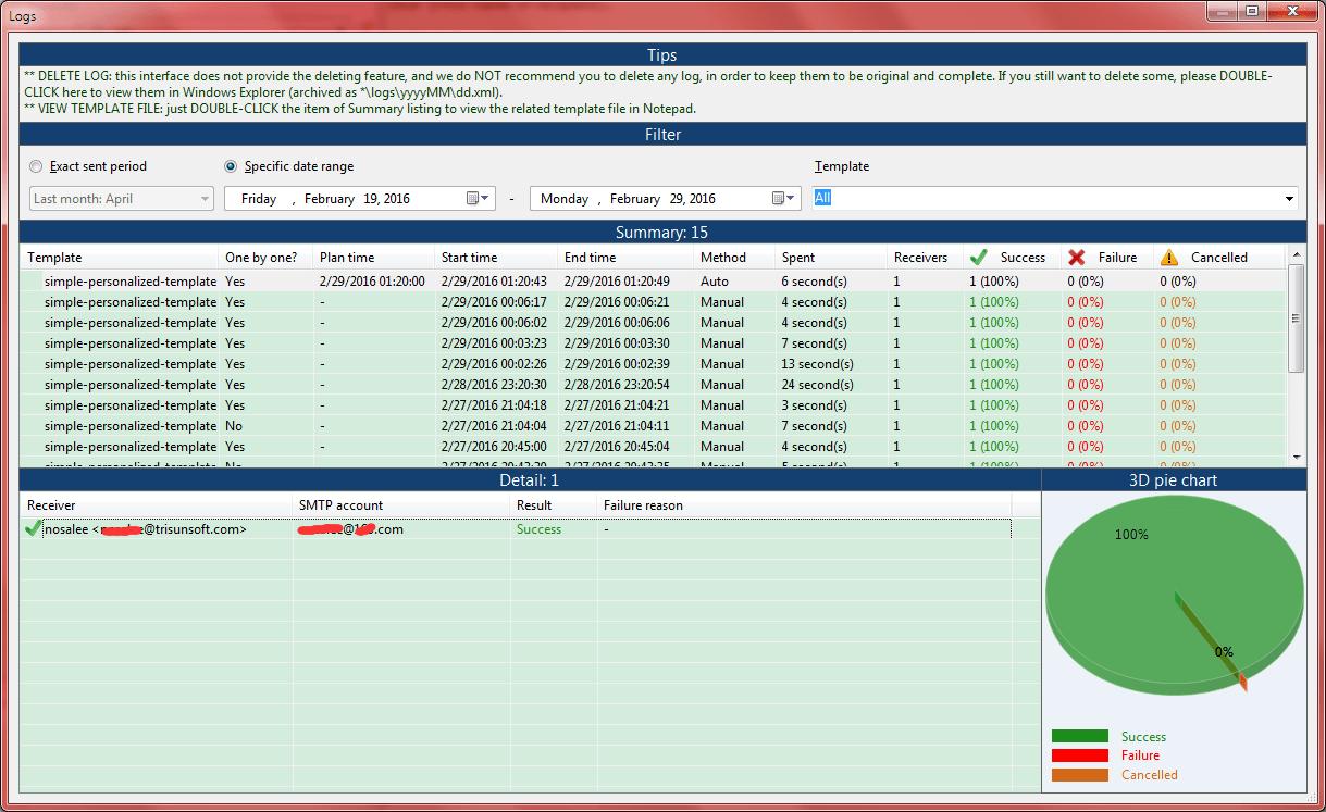 Email scheduler auto mail sender standard edition screenshot log viewer geenschuldenfo Images