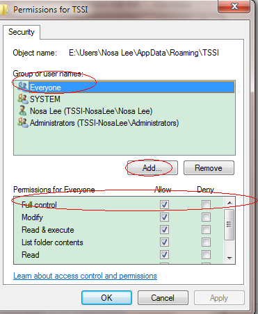 AMSSE Data Permissions