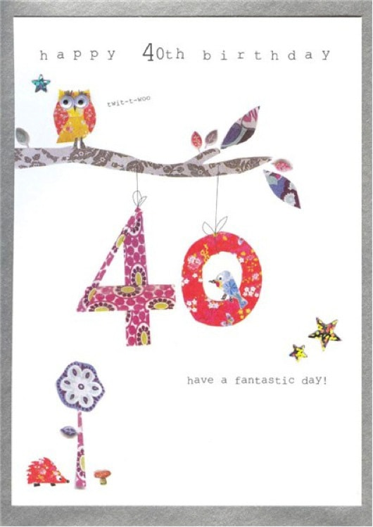 40 Birthday Card A