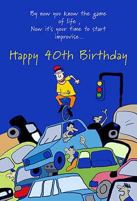 40th Birthday Cards for Men J