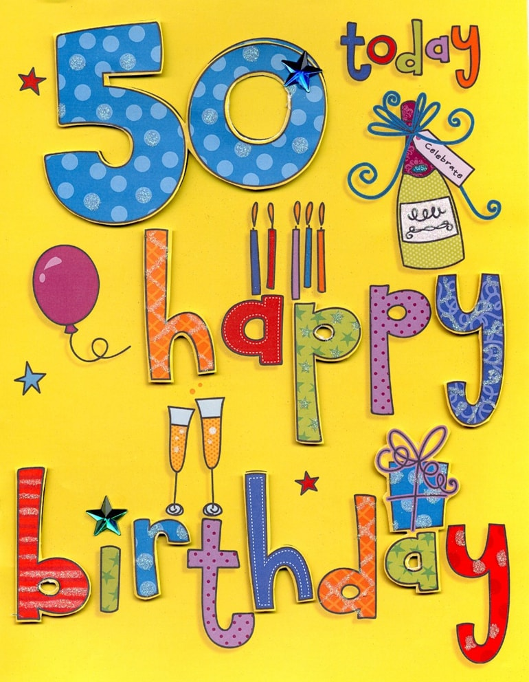 50 Birthday Cards A