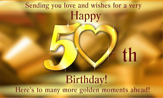 50th Birthday Card C