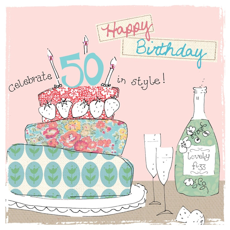 50th Birthday Cards for Men H