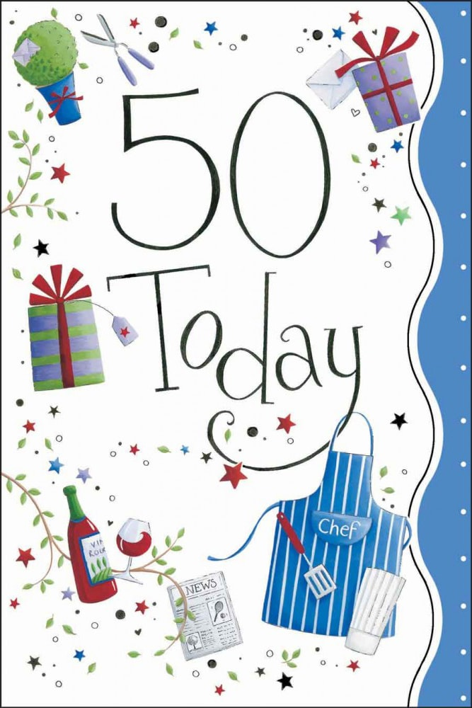 50th Birthday Card Greetings A