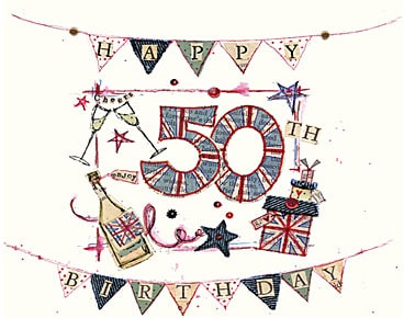 50th Birthday Greeting Cards H