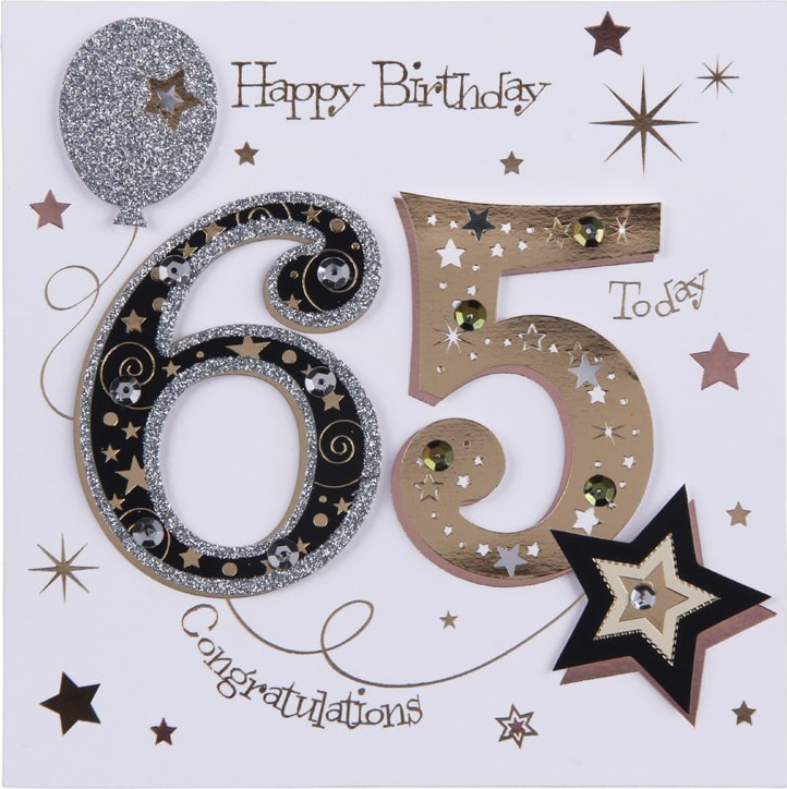 65th Birthday Card B