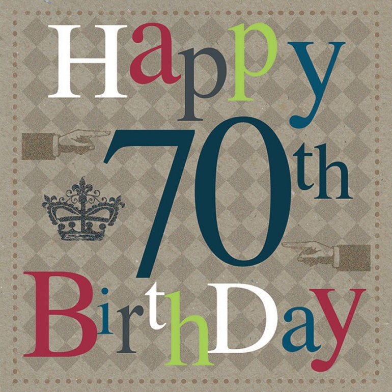 70th Birthday Card B