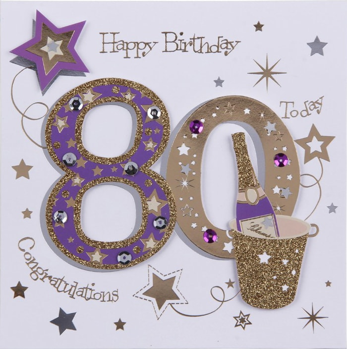80th Birthday Card B