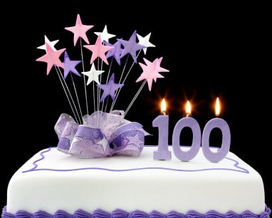 100th Birthday Cards A