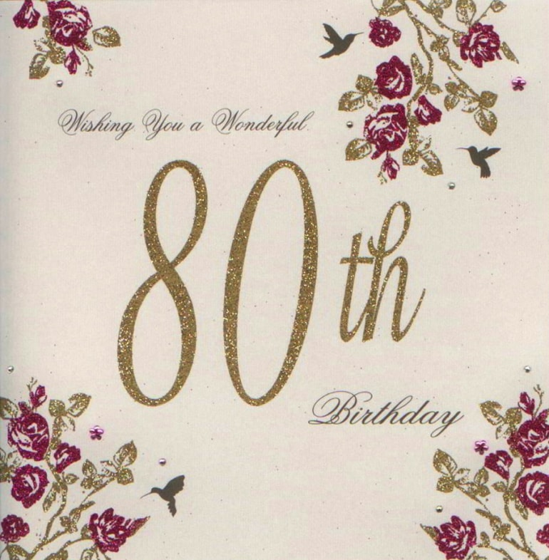 80th Birthday Cards D