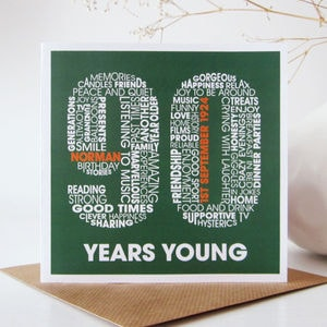 90th Birthday Card A