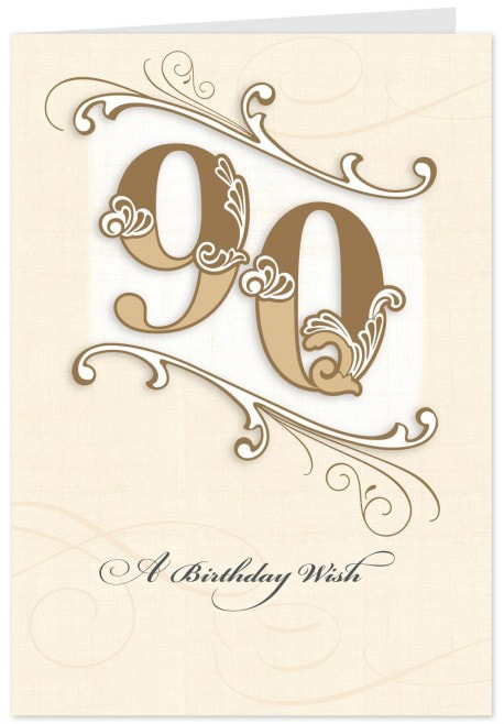 90th Birthday Cards D