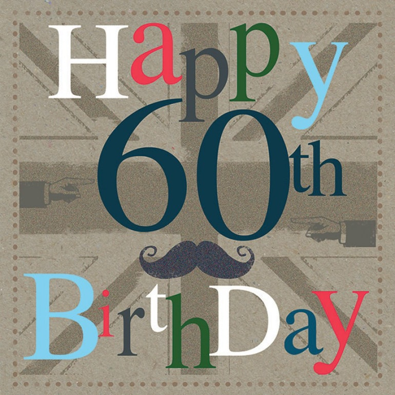 60 Birthday Card A