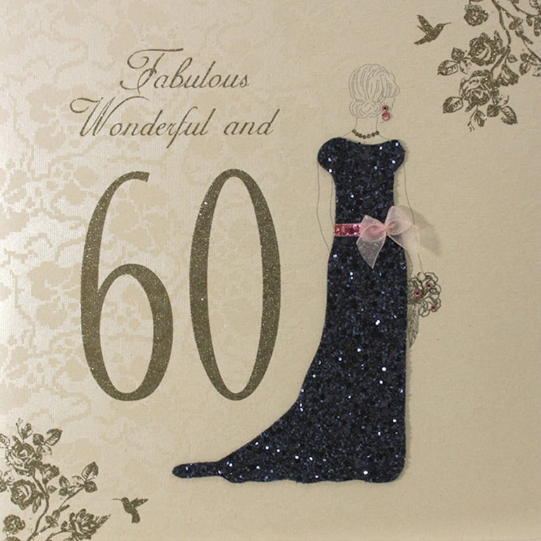 60th Birthday Card E