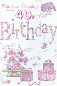 Personalised 40th Birthday Cards C