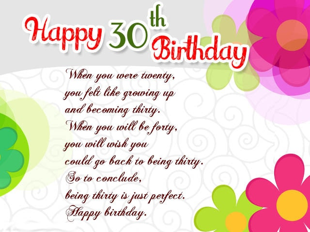 30th Birthday ECards D