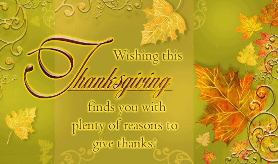Thanksgiving Day Electronic Greeting Cards B